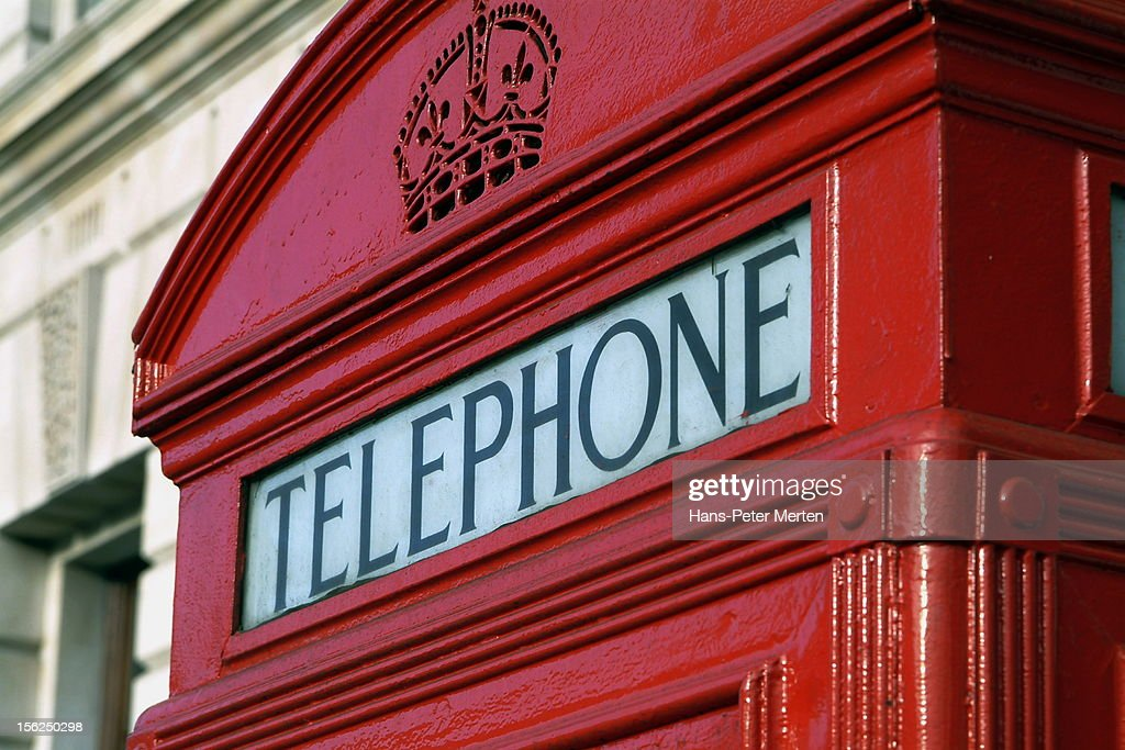 typical telephone cell, London : Stock Photo
