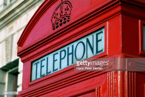 typical telephone cell, London : Foto de stock