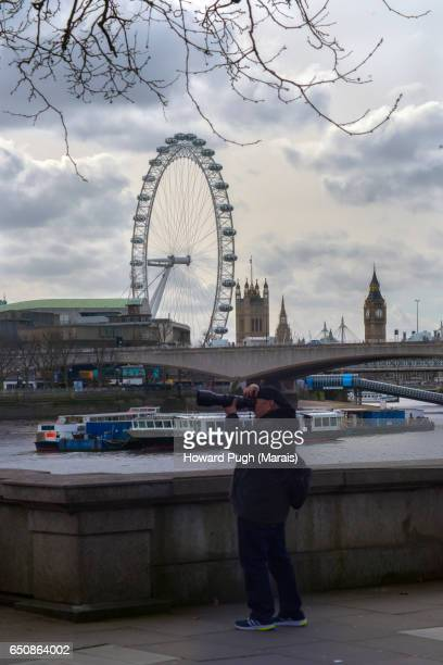 Typical Tourists and Locals of London Embankment