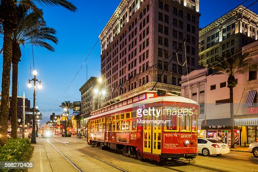Typical tram in Canal street