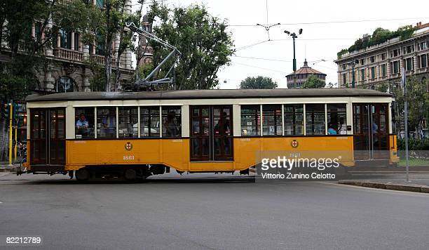 A typical Tram on August 07 2008 in Milan Italy