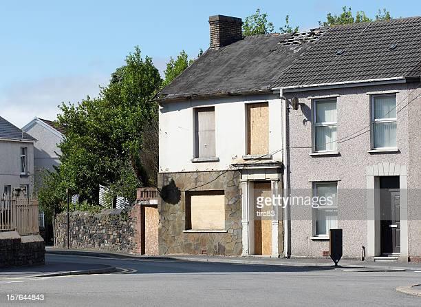 典型的な英国テラスハウジング street derelict