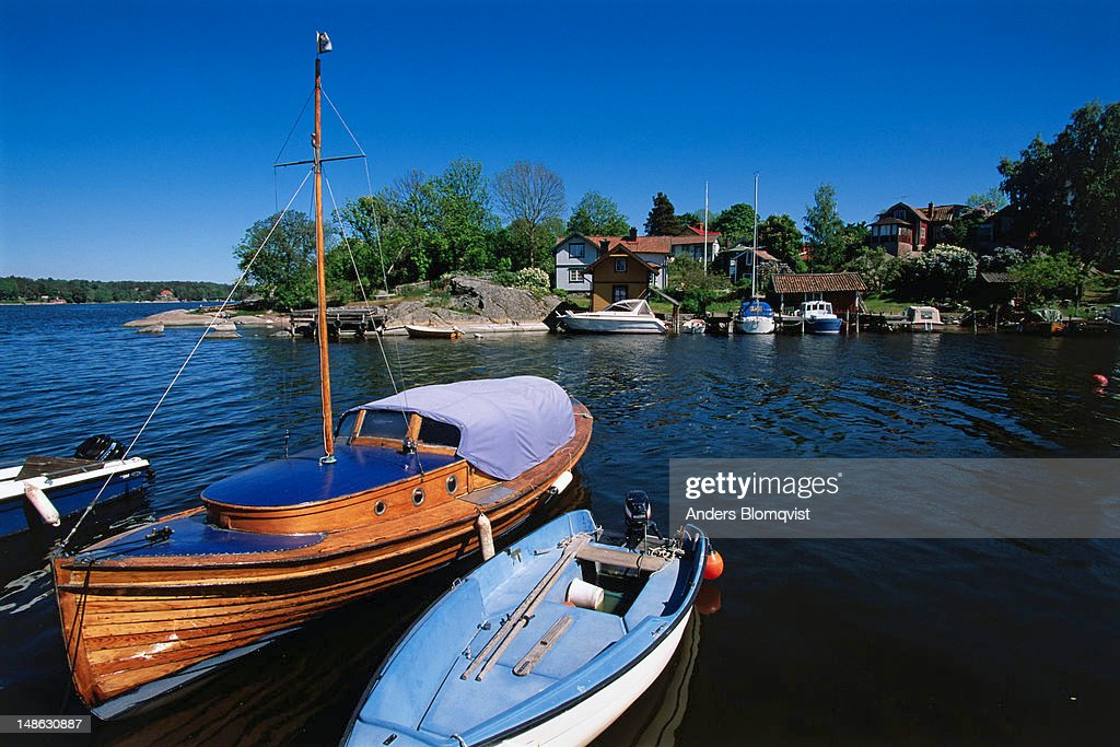 Typical view of Vaxholm, a pleasant little town founded in 1647.