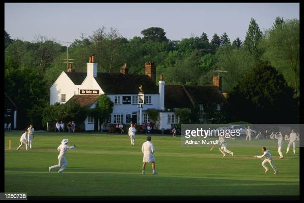 A typical village cricket match in progress at Tilford in Surrey Mandatory Credit Adrian Murrell/Allsport UK