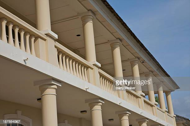 Typically-Jamaican balcony with Doric columns.