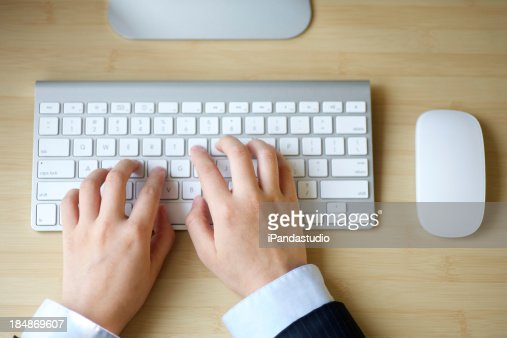 typing the keyboard