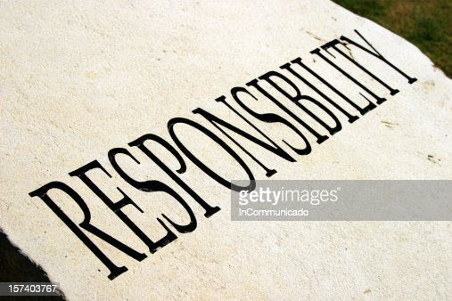 Typography of the word RESPONSIBILITY  Stock Photo