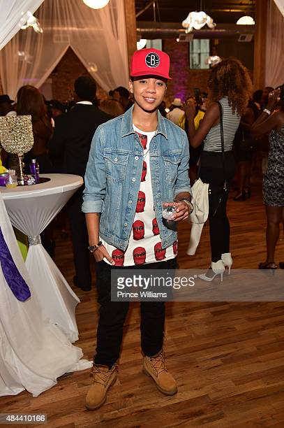 Tyra B attends Kenya Moore Hair Care Launch Event at M Rich Building on August 17 2015 in Atlanta Georgia
