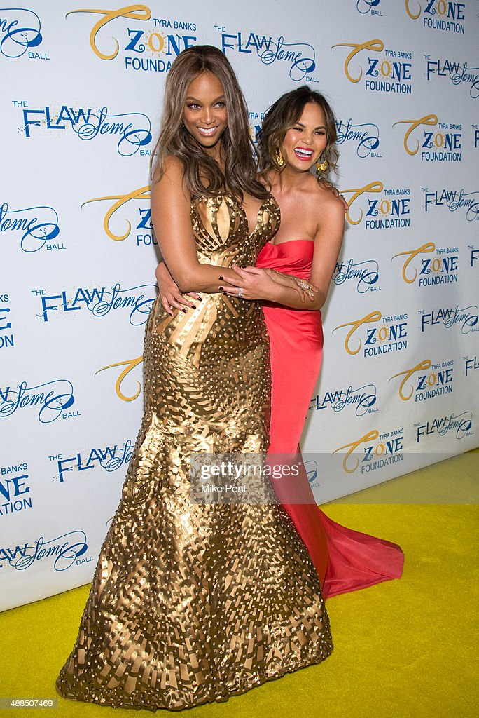 <a gi-track='captionPersonalityLinkClicked' href=/galleries/search?phrase=Tyra+Banks&family=editorial&specificpeople=202216 ng-click='$event.stopPropagation()'>Tyra Banks</a> and Chrissy Teigen attend <a gi-track='captionPersonalityLinkClicked' href=/galleries/search?phrase=Tyra+Banks&family=editorial&specificpeople=202216 ng-click='$event.stopPropagation()'>Tyra Banks</a>' Flawsome Ball 2014 at Cipriani Wall Street on May 6, 2014 in New York City.