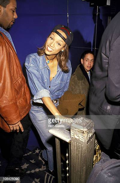 Tyra Banks And Friends during 'A Night of Fun Sun' Hosted by Ocean Drive Absolut Vodka at The Supper Club in New York City New York United States