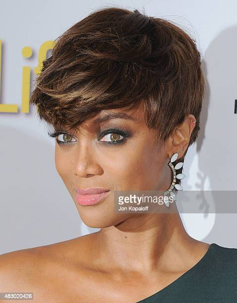 Tyra Banks arrives at Disney ABC Television Group's 2015 TCA Summer Press Tour at the Beverly Hilton Hotel on August 4 2015 in Beverly Hills...
