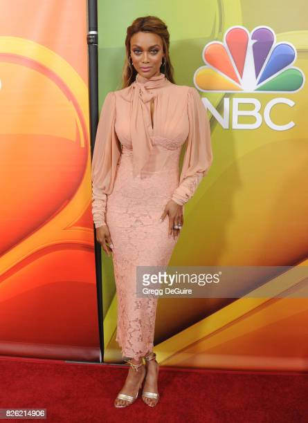 Tyra Banks arrives at the 2017 Summer TCA Tour NBC Press Tour at The Beverly Hilton Hotel on August 3 2017 in Beverly Hills California