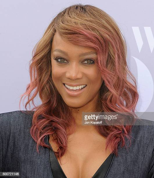 Tyra Banks arrives at The Hollywood Reporter's Annual Women In Entertainment Breakfast at Milk Studios on December 9 2015 in Los Angeles California