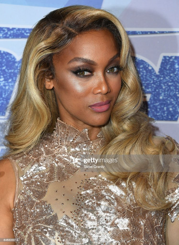 Tyra Banks arrives at the NBC's 'America's Got Talent' Season 12 Live Show at Dolby Theatre on September 12, 2017 in Hollywood, California.