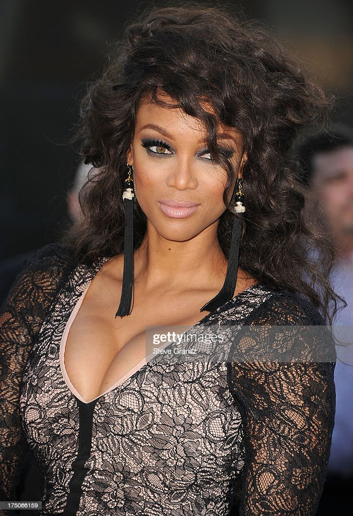 Tyra Banks arrives at the Television Critic Association's Summer Press Tour - CBS/CW/Showtime Party at 9900 Wilshire Blvd on July 29, 2013 in Beverly Hills, California.