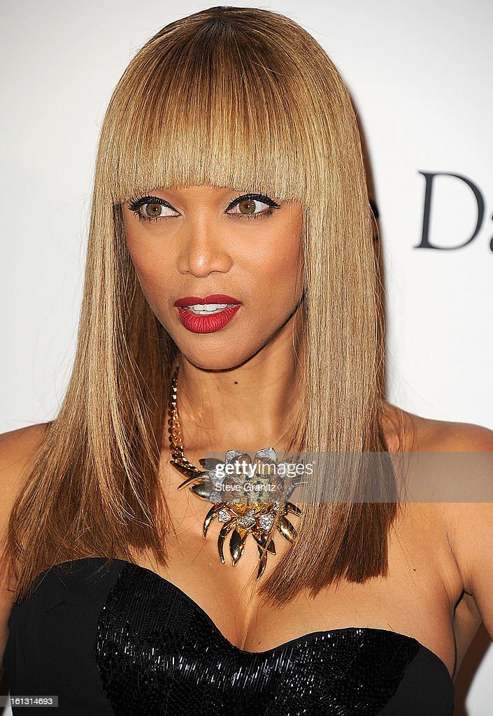 Tyra Banks arrives at the The 55th Annual GRAMMY Awards - Pre-GRAMMY Gala And Salute To Industry Icons Honoring L.A. Reid on February 9, 2013 in Los Angeles, California.