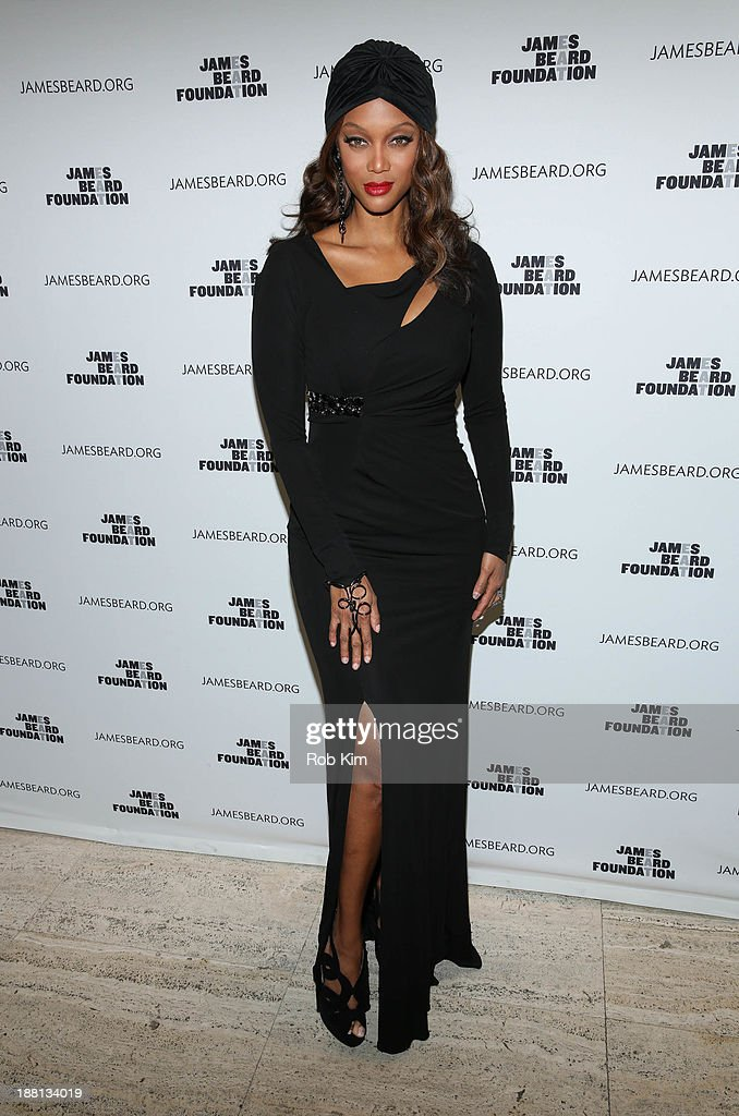 Tyra Banks attends 2013 The James Beard Foundation's Women In White gala at Four Seasons Restaurant on November 15 2013 in New York City