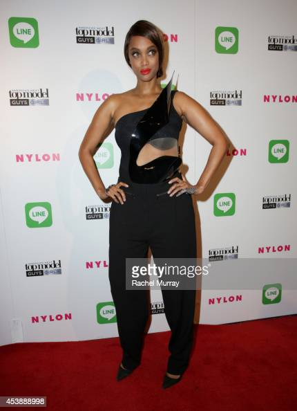 Tyra Banks attends America's Next Top Model Cycle 21 premiere party presented by NYLON and LINE at SupperClub Los Angeles on August 20 2014 in Los...