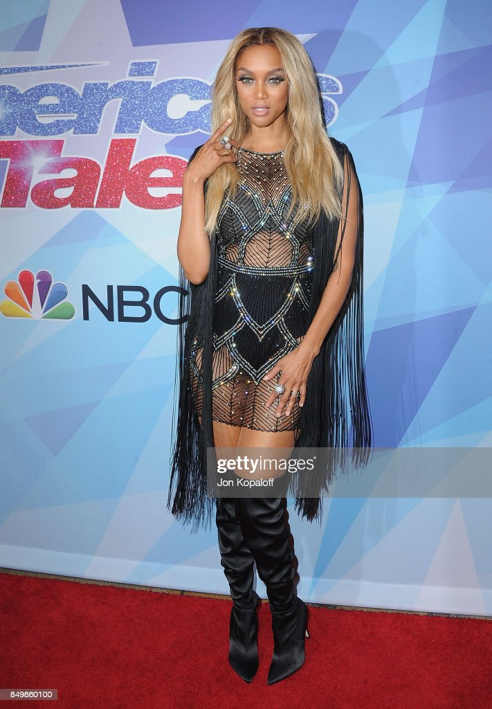 Tyra Banks attends NBC's 'America's Got Talent' Season 12 Finale Week at Dolby Theatre on September 19, 2017 in Hollywood, California.