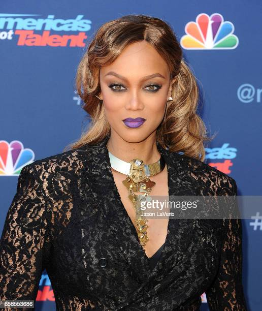 Tyra Banks attends NBC's 'America's Got Talent' season 12 kickoff at Pasadena Civic Auditorium on March 27 2017 in Pasadena California