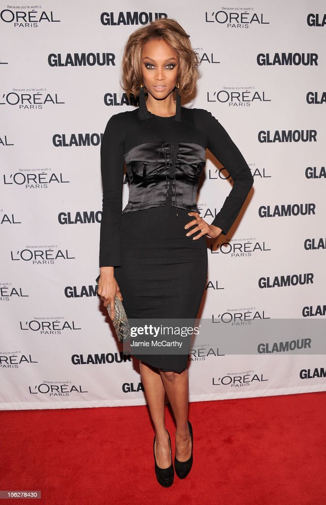 <a gi-track='captionPersonalityLinkClicked' href=/galleries/search?phrase=Tyra+Banks&family=editorial&specificpeople=202216 ng-click='$event.stopPropagation()'>Tyra Banks</a> attends the 22nd annual Glamour Women of the Year Awards at Carnegie Hall on November 12, 2012 in New York City.