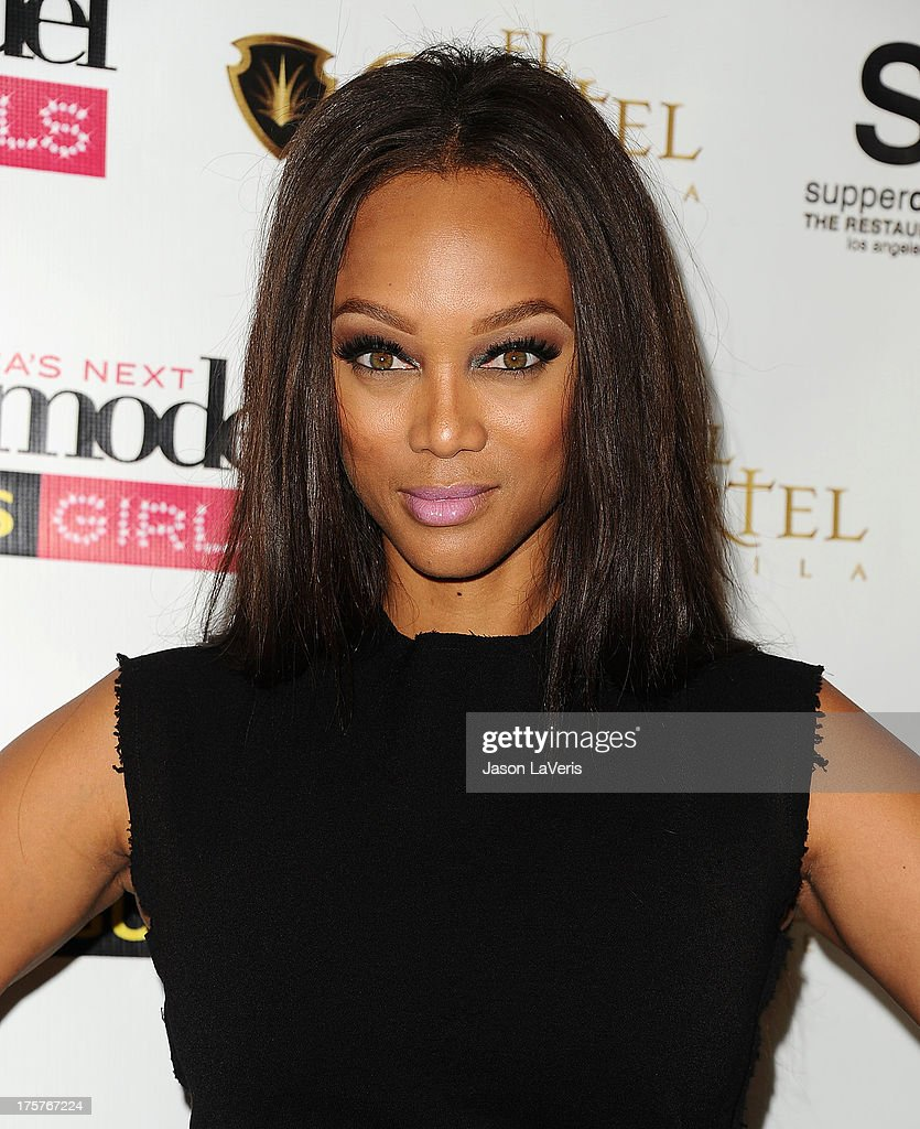 <a gi-track='captionPersonalityLinkClicked' href=/galleries/search?phrase=Tyra+Banks&family=editorial&specificpeople=202216 ng-click='$event.stopPropagation()'>Tyra Banks</a> attends the 'America's Next Top Model' 20th cycle gala celebration at SupperClub Los Angeles on August 7, 2013 in Los Angeles, California.