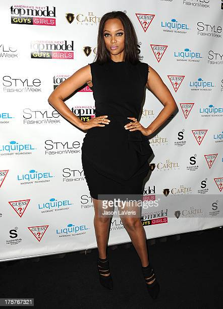 Tyra Banks attends the 'America's Next Top Model' 20th cycle gala celebration at SupperClub Los Angeles on August 7 2013 in Los Angeles California