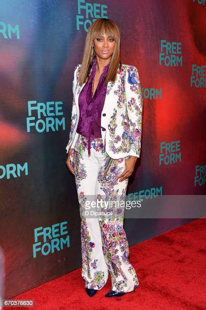 Tyra Banks attends the Freeform 2017 Upfront at Hudson Mercantile on April 19 2017 in New York City