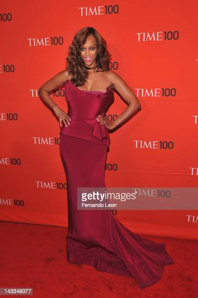 Tyra Banks attends the TIME 100 Gala celebrating TIME'S 100 Most Influential People In The World at Jazz at Lincoln Center on April 24 2012 in New...