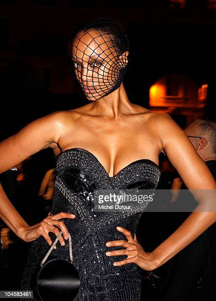 Tyra Banks attends Vogue 90th Anniversary Party as part of Ready to Wear Spring/Summer 2011 Paris Fashion Week at Hotel Pozzo di Borgo on September...