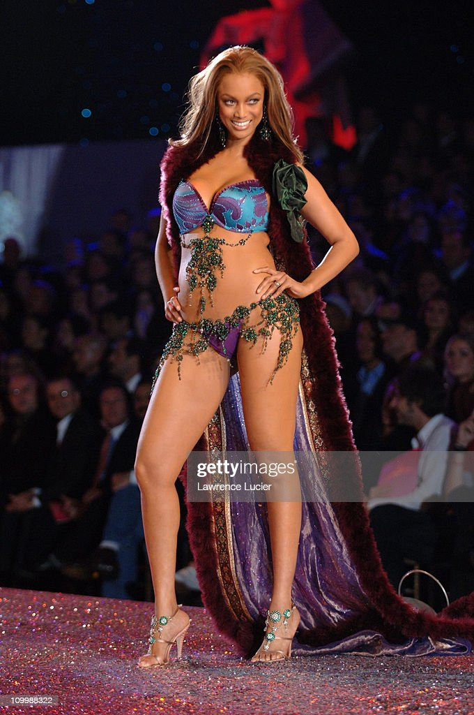 Tyra Banks during 10th Victoria's Secret Fashion Show Runway at Lexington Avenue Armory in New York City New York United States