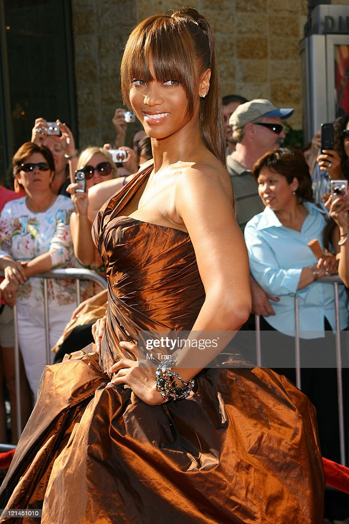 <a gi-track='captionPersonalityLinkClicked' href=/galleries/search?phrase=Tyra+Banks&family=editorial&specificpeople=202216 ng-click='$event.stopPropagation()'>Tyra Banks</a> during 34th Annual Daytime Emmy Awards - Arrivals at Kodak Theatre in Hollywood, California, United States.