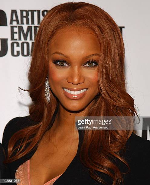 Tyra Banks during 3rd Annual Artist Empowerment Coalition PreGRAMMY Brunch Arrivals at Beverly Hilton in Beverly Hills California United States