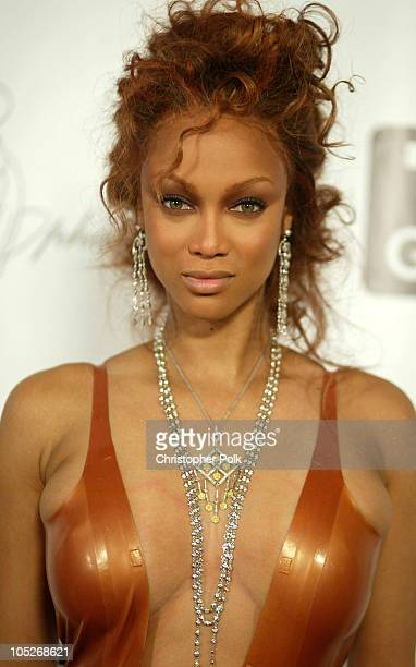 Tyra Banks during 'America's Next Top Model Season 2' Finale Party at Key Club in Hollywood California United States
