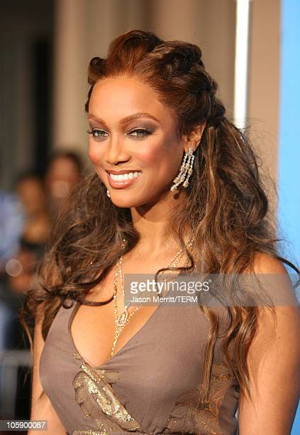 Tyra Banks during The 37th Annual NAACP Image Awards Arrivals at Shrine Auditorium in Los Angeles California United States
