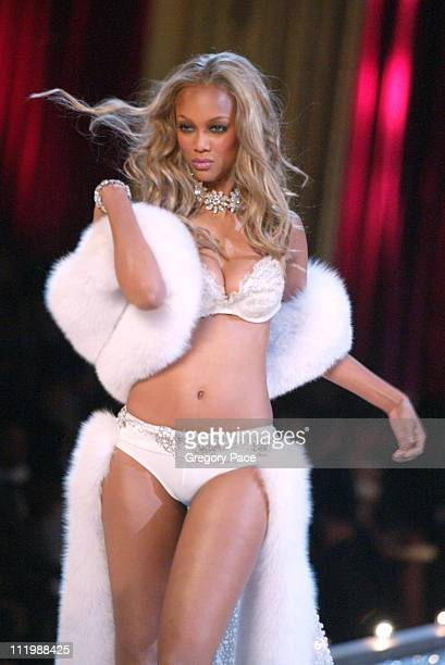 Tyra Banks during The 9th Annual Victoria's Secret Fashion Show Runway at Lexington Avenue Armory in New York City New York United States