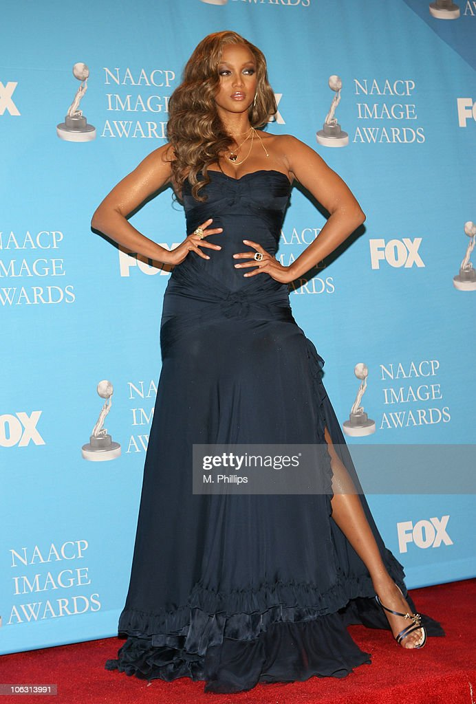 Tyra Banks, presenter during 38th Annual NAACP Image Awards - Press Room at Shrine Auditorium in Los Angeles, California, United States.