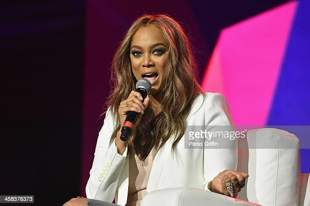 Tyra Banks speaks onstage during the 2016 ESSENCE Festival presented By CocaCola at Ernest N Morial Convention Center on July 2 2016 in New Orleans...