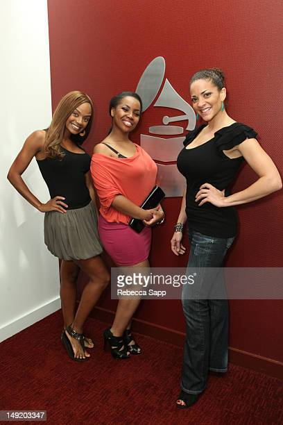 Tyra Colar Tasha Columbus and Amber Johnson at I'm A Member And You Should Be Too at The Recording Academy on July 24 2012 in Los Angeles California