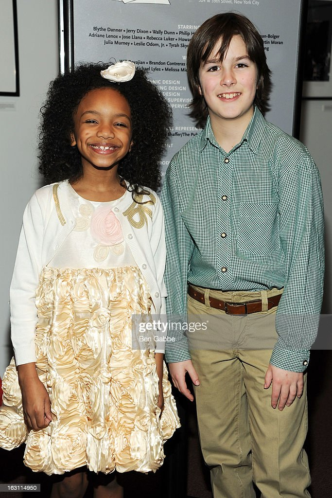 Tyrah Skye Odoms (L) and Wolfgang Scheitinger attend 'Our Town' Benefit Performance at the Gerald W. Lynch Theatre on March 4, 2013 in New York City.
