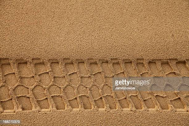 Tyre Track in Sand