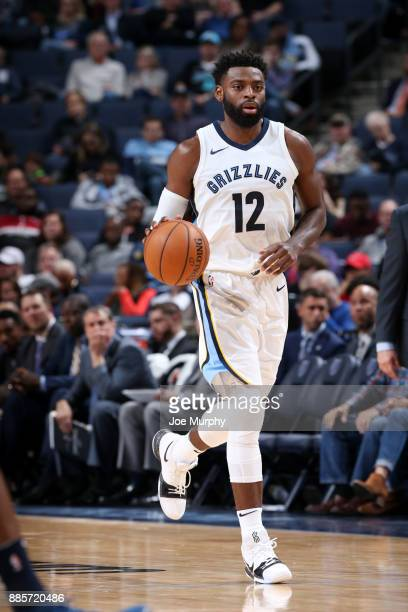 Tyreke Evans of the Memphis Grizzlies handles the ball during the game against the Minnesota Timberwolves on December 4 2017 at FedEx Forum in...