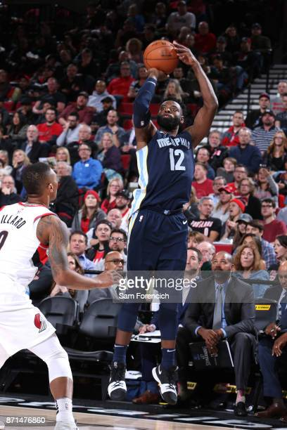 Tyreke Evans of the Memphis Grizzlies shoots the ball against the Portland Trail Blazers on November 7 2017 at the Moda Center in Portland Oregon...