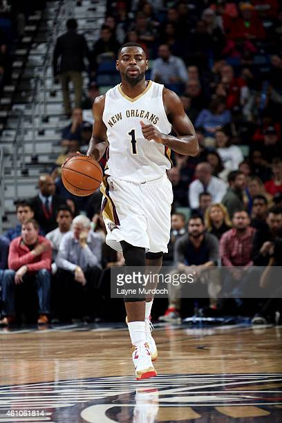 Tyreke Evans of the New Orleans Pelicans drives against the Washington Wizards on January 5 2015 at Smoothie King Center in New Orleans Louisiana...