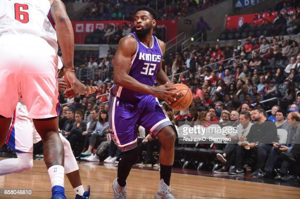 Tyreke Evans of the Sacramento Kings handles the ball against the LA Clippers on March 26 2017 at STAPLES Center in Los Angeles California NOTE TO...