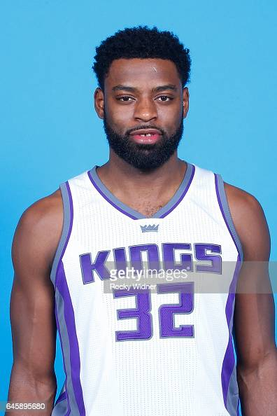 Tyreke Evans of the Sacramento Kings poses for a head shot on February 24 2017 at the Golden 1 Center in Sacramento California NOTE TO USER User...