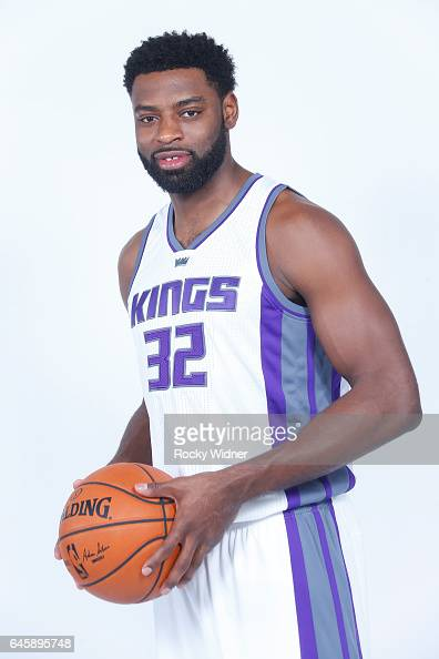 Tyreke Evans of the Sacramento Kings poses for a photo on February 24 2017 at the Golden 1 Center in Sacramento California NOTE TO USER User...
