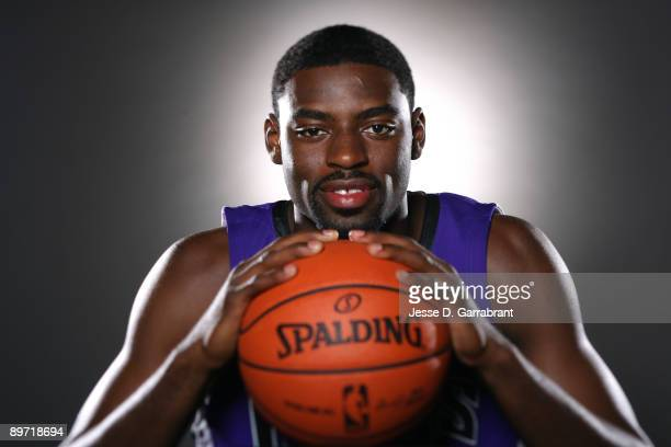 Tyreke Evans of the Sacramento Kings poses for a portrait during the 2009 NBA Rookie Photo Shoot on August 9 2009 at the MSG Training Facility in...