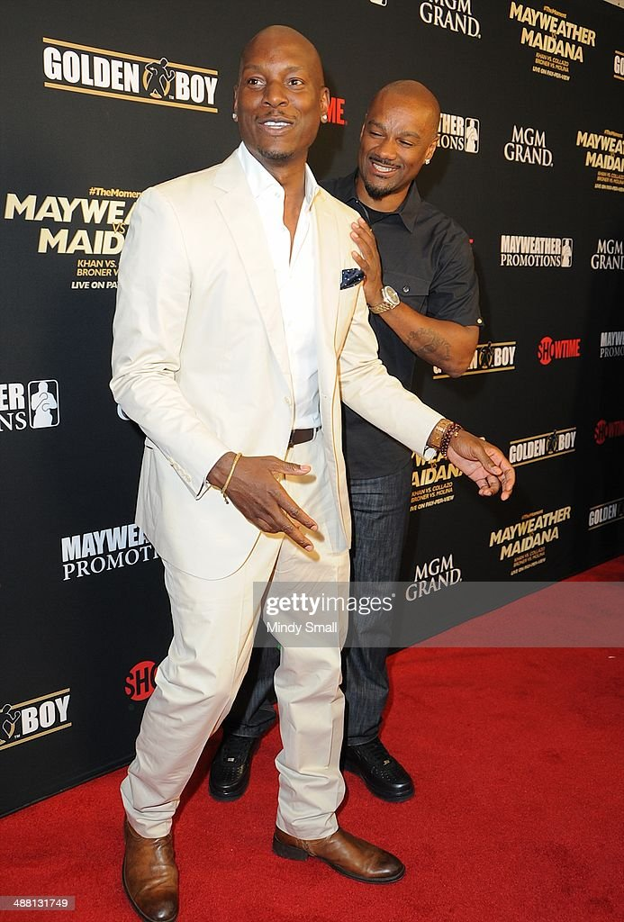 Tyrese and Big Tigger attend the Mayweather Vs. Maidana Pre-Fight Party Presented By Showtime at MGM Garden Arena on May 3, 2014 in Las Vegas, Nevada.
