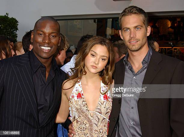 Tyrese Devon Aoki Paul Walker during The World Premiere Of '2 Fast 2 Furious' Arrivals at Universal Amphitheatre in Universal City California United...